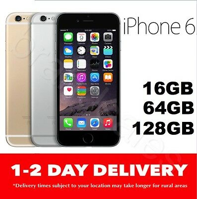AS NEW APPLE iPHONE 6 16GB 64GB 128GB 100% UNLOCKED GOLD SILVER SPACE GREY MR