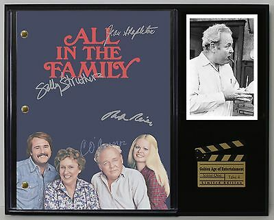 All In The Family Autograph Reprint Television Script Display - USA Ships Free