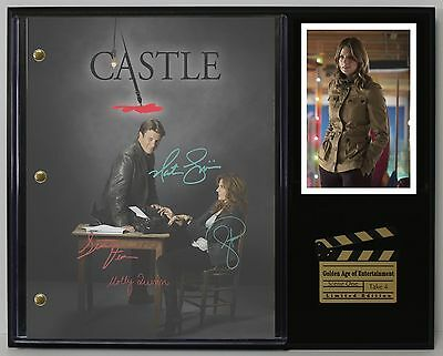 Castle - Reprinted Autograph TV Script Display - USA Ships Free