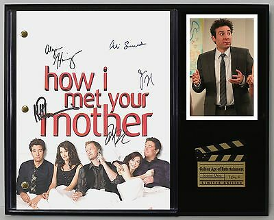 How I Met Your Mother - Reprinted Autograph TV Script Display - USA Ships Free