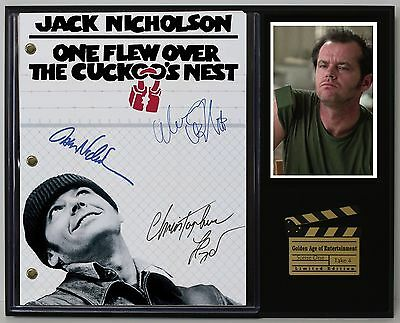 One Flew Over The Cuckoo's Nest Reprinted Autograph Movie Script Display