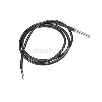 1PCS 1M DS18B20 Waterproof Probe Temperature Sensor Silicone Cable Thermometer K