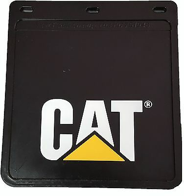 SINGLE (ONE ONLY) CAT BLACK UTE MUDFLAPS 245x225mm; MUD FLAP; MUDFLAP; 4x4; 4WD