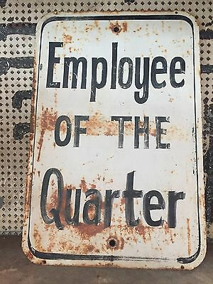 Vintage Tin 'Employee of the Quarter' Sign