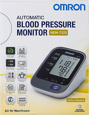New Omron Ultra Premium Blood Pressure Monitor Hem 7320