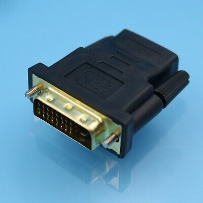 100Pcs DVI 24+1 Male To HDMI Female Gold Converter Gold Plated Adapter Useful SC