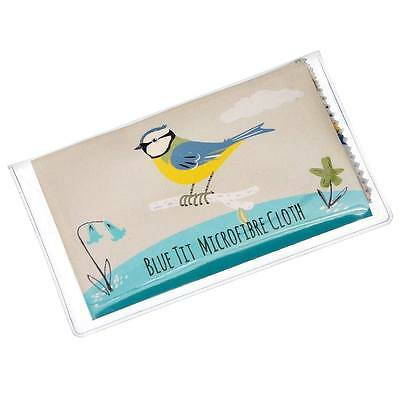 dotcomgiftshop BLUE TIT GLASSES CLEANING CLOTH