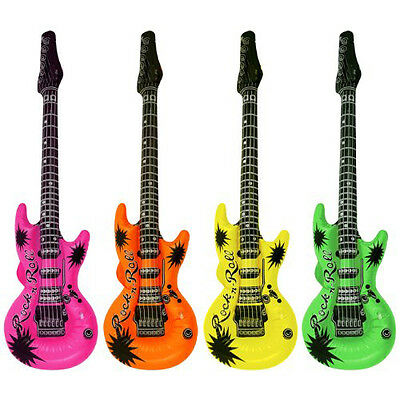 Set Of 4 Inflatable Guitars WD