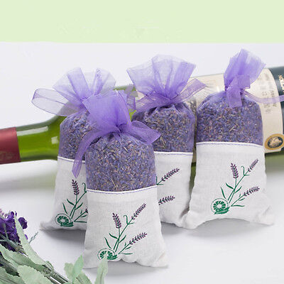 4x Dried Lavender Bags Aromatic Fragrant Favours Calming Sleep Aid Moth Repell