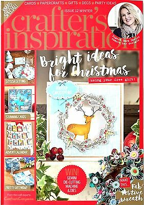 Crafters Inspiration Magazine Issue 12 Winter 2016 - Free Die, Stamp, Folder, Cd