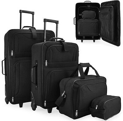 4 Pcs Luggage Set Travel Suitcase With Wheels Trolley Bag Cabin Baggage Bags NEW