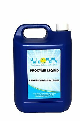 Prozyme Liquid Industrial Strength Cleaner Toilets Drains Pipes Unblocker 5L