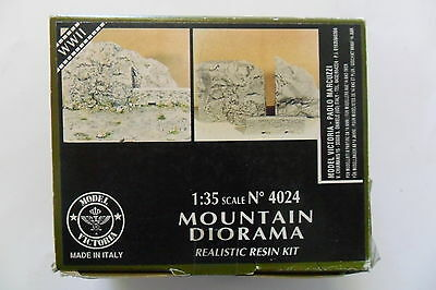 Model Victoria 1:35 Mountain Diorama Wwii Realistic Resin Kit In Resina Art 4024
