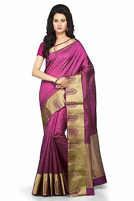 Bollywood Silk Designer New Saree Indian Kanchipuram Traditional Sari kanjivaram