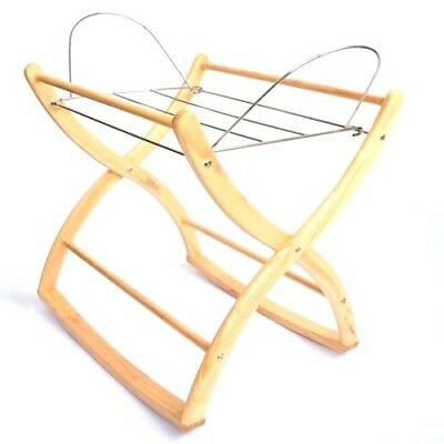 Izziwotnot Baby Natural Wood Moses Basket Rocking Stand