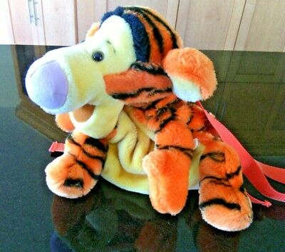 Tigger Backpack Sleepover Bag Soft Plush Toy Winnie the Pooh's Friend Over Night