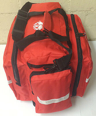 Needi Professional EMS EMT Paramedic Medical First Aid Rescue Response Bag - RED