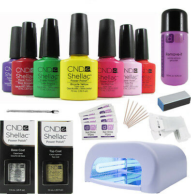 CND Professional Shellac Starter Kit - Choice of up to 10 Top Colours, 36W lamp