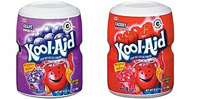 Kool Aid Grape and Cherry Tubs 538g (1 of each)