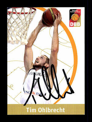 Tim Ohlbrecht Autogrammkarte Basketball Nationalmannschaft 2011-12 + A 145284