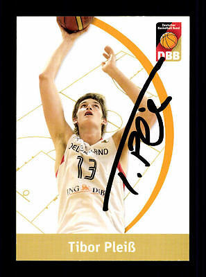 Tibor Pleiß Autogrammkarte Basketball Nationalmannschaft 2010-11 + A 145295