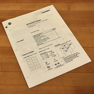 Allen Bradley 955115-61 Universal I/O Chassis Install Manual - USED