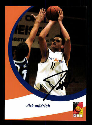 Dirk Mädrich Autogrammkarte Basketball Nationalmannschaft 2004-05 + A 145214