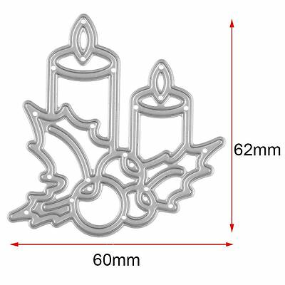 Christmas Candle Metal Cutting Dies Stencil DIY Scrapbook Embossing Card Craft