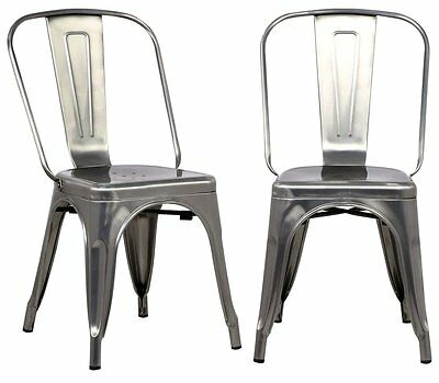 Tolix Gun Metal Silver Metal CAFE RESTAURANT BAR BISTRO Dining Chairs WHOLESALE