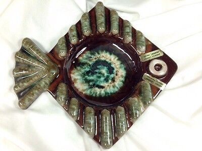 1950's UNDERSEA GARDENS Ceramic Ashtray NEWPORT, OREGON Vintage