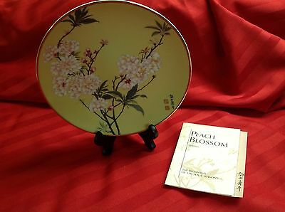 Franklin Mint Peach Blossoms Plate, Blossoms Of The Four Seasons Collection