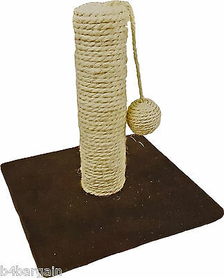 Cat Kitten Pet Scratch and Play Post Sturdy Activity Pole Sisal Scratching Stand