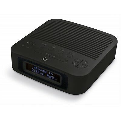 Kitsound Revive DAB Alarm Clock - Black