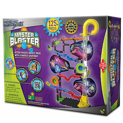 Marble Mania Techno Gears Master Blaster PlaySet 125pc Toy Construction Launcher