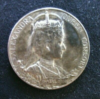 Vintage Silver Coronation Medal Alexandria Queen Consort 9 August 1902 Edward