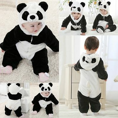 New Baby Boy Girl WINTER WARM Panda Halloween Party Costume Outfit Clothes