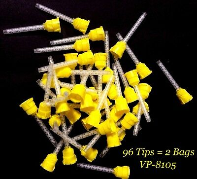 2x Defend HP Mixing Tips Yellow 4.2mm VP-8105 (2x) 48Tips = 96 Tip