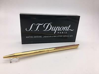 S.T. Dupont Gold with Red Clip Classique Ballpoint Pen M# 45072A