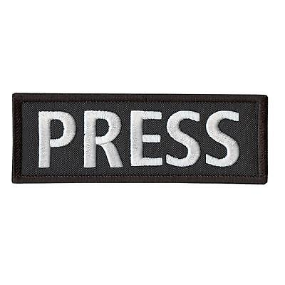 "PRESS 5""x2"" body armor embroidered vest tactical media embroidery hook patch"