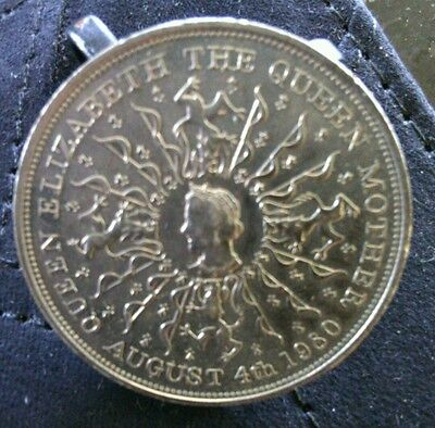 Queen Elizabeth the Queen Mother August 4th 1980 Silver Coin Royal Commemorative