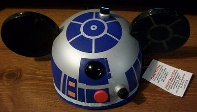 Disney Parks exclusive Star Wars R2-D2 Droid Mickey Mouse ears beanie cap hat