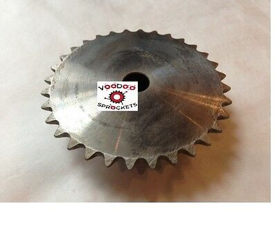 """25B32 1/4"""" Pitch, Chain Size 25, Finished Bore Sprocket, 1/2"""" Bore 2 Set Screw"""