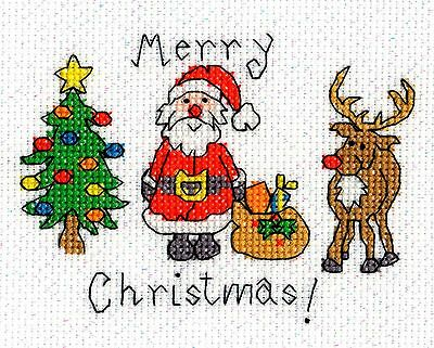 Bothy Threads Christmas Cards Merry Christmas Counted Cross Stitch Kit