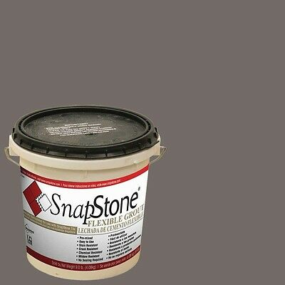 SnapStone Charcoal Grey 9 lb. Urethane Flexible Grout, Durable, High-Quality