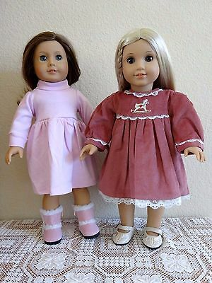 """NEW-DOLL CLOTHES: Dresses/Shoes/Boots fit 18"""" Doll such as AG Dolls- Lot #267"""