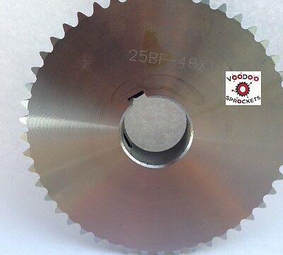 "25B48 1/4"" Pitch, Chain Size 25, Finished Bore Sprocket, 1"" Bore 2 Set Screw"