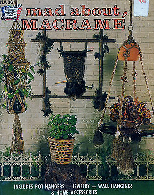 Mad About Macrame Book Plant Hanger Wall Hanging Jewelry Owl Necklace Curtain