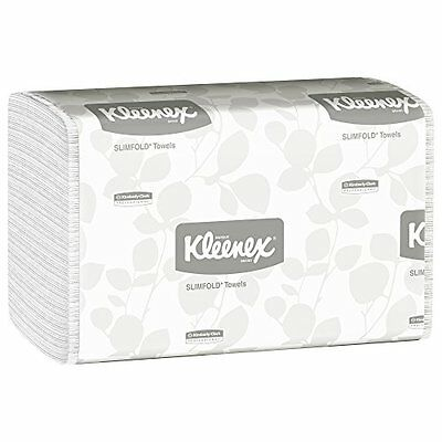 Hand Towels Kleenex Slimfold (04442) with Fast-Drying Absorbency Pockets, White,