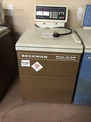 Beckman Coulter J2-21M Induction Drive Centrifuge