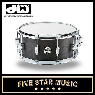 "DW PDP CONCEPT SERIES SNARE MAPLE IN BLACK WAX 5.5x14"" 14"" PDSN5514BWCR NEW"